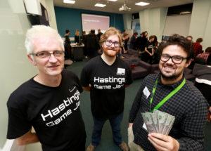 Hastings Game Jam: The Organisers (Jon McClellan, Jon Nicholson, Paul Oliver)